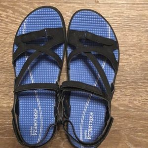 Easy Spirit Explore 24 Size 8 Black Sandal